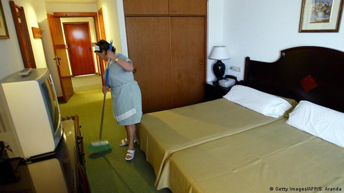Spanien Zimmermädchen