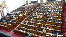 Titel: Parlamentarische Notsitzung Stichworte: Äthiopien, Ethiopia, Parlament, Addis, Wahl Beschreibung: Parlamentarische Notsitzung Datum: 24.08.19 Copyright: Y. G. Egziabher (DW)