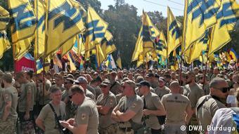 Участники Марша ветеранов