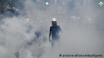 Hongkong Protest gegen China & Auslieferungsgesetz | Demonstrant, Tränengas