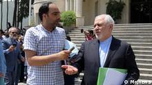 Iran Journalist Amir Tohid & Mohammed Dschawad Sarif, Außenminister