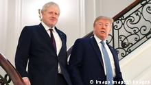 . 25/08/2019. Biarritz, France. Boris Johnson attends the G7- Day Two. U.S. President Donald Trump and Britain s Prime Minister Boris Johnson arrive for a bilateral meeting during the G7 summit in Biarritz, France, August 25, 2019. PUBLICATIONxINxGERxSUIxAUTxHUNxONLY xi-Imagesx/xPoolx IIM-20048-0009