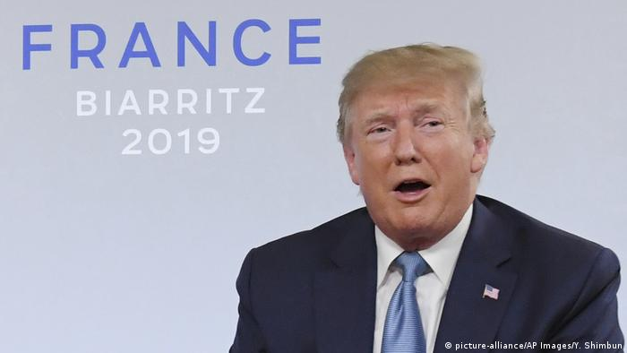 G7-Gipfel in Frankreich | Donald Trump (picture-alliance/AP Images/Y. Shimbun)