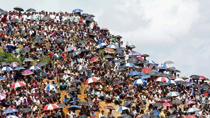 Protestos de rohingya em Bangladesh
