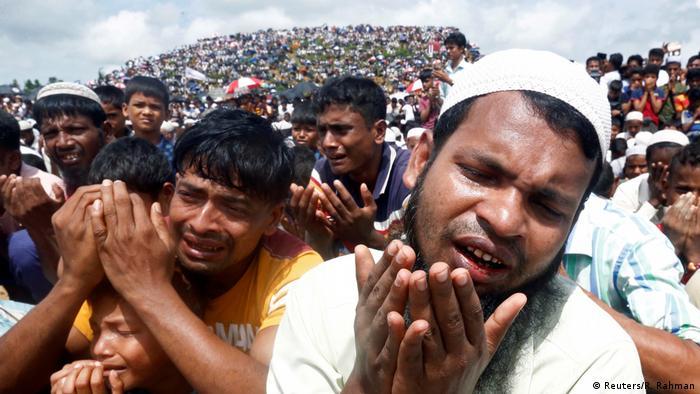Bangladesch Demonstration Rohingya im Flüchtlingslager Kutupalong (Reuters/R. Rahman)