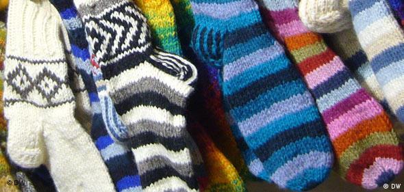 Socken auf dem Weihnachtsmarkt in Köln (Foto: DW / Nela Doutch)