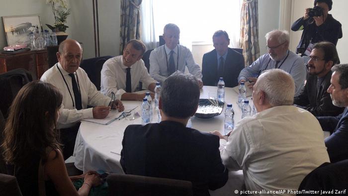 Susret Macrona s iranskim ministrom vanjskih poslova Mohamedom Džavadom Sarifom