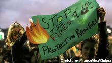 Brasilien Sao Paulo Protest gegen Ausbeutung des Amazonas-Regenwaldes