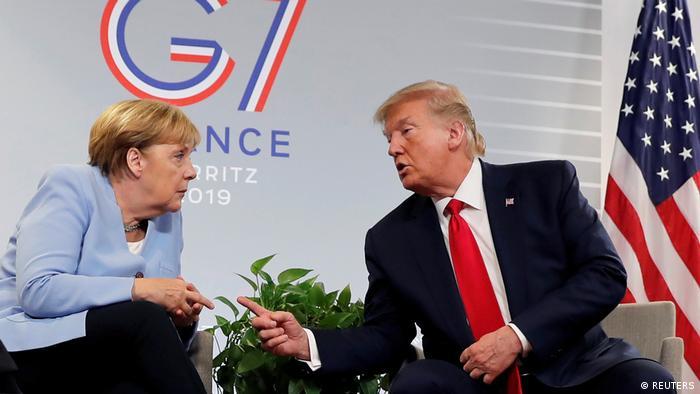 G7 Gipfel in Biarritz Merkel und Trump