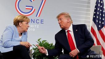 G7 Gipfel in Biarritz Merkel und Trump (REUTERS)