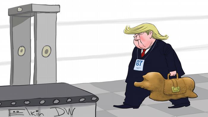 Трамп идет с портфелем