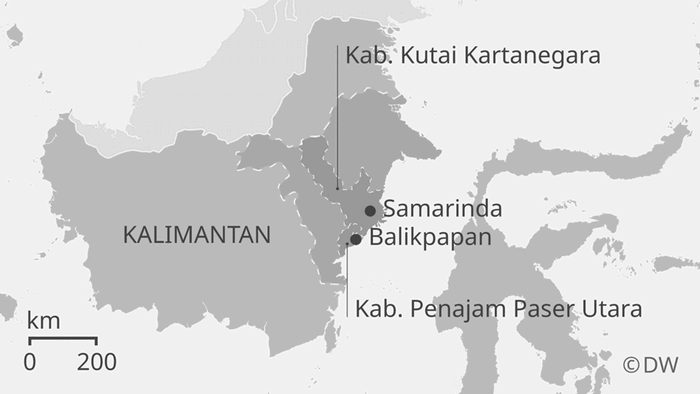 Karte Indonesien Kalimantan ID