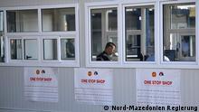 Titel: Grenze zwischen Nord-Mazedonien und Serbien: Der erste One Stop Shop Grenzübergang ist eröffnet Schlagworte: Nord-Mazedonien, Serbien, Grenze, Grenzübergang Die Bilder hat uns die Presse-Abteilung der mazedonischen Regierung geschickt (Copyright: Regierung Nord-Mazedonien)