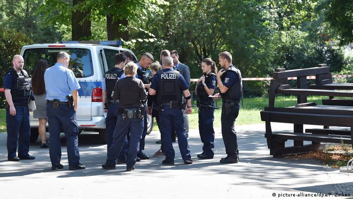Ein Tschetschene wurde in Berlin am 23. August erschossen: Polizei am Tatort