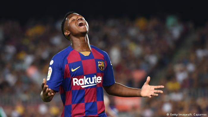 Ansu Fati, FC Barcelona (Getty Images/A. Caparros)