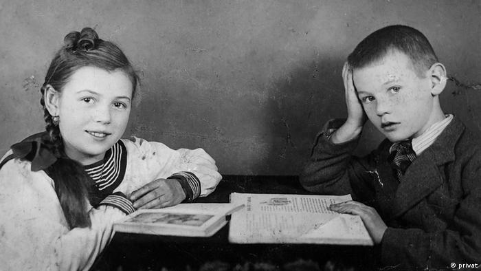 Wielun, Poland - Jan and his sister Maria in 1937 (private photo)