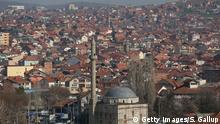 PRISTINA, KOSOVO - MARCH 19: Mosques dot the cityscape in this general view of the city center on March 19, 2016 in Pristina, Kosovo. Kosovo, following the Kosovo War of 1999 and its new-found independence, is still burdened with ethnic rifts and a weak economy. (Photo by Sean Gallup/Getty Images)