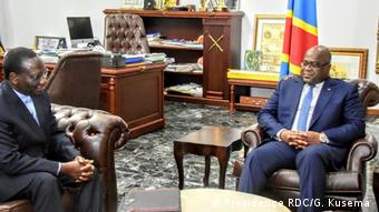 Kongo   Präsident Felix Tshisekedi und Premierminister Sylvestre Ilunga Ilunkamba