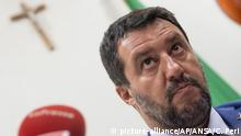 I26.08.2019 talian Deputy Prime Minister, Interior Minister and the League party's Secretary, Matteo Salvini gives a press conference at the Senate, in Rome, Italy, Monday, Aug. 26. 2019. Salvini, who only a few days ago dangled the possibility that he and Di Maio could cobble together a fresh coalition, almost sounded resigned Monday night that his power play to win new elections soon would be thwarted. (Claudio Peri/ANSA via AP) |
