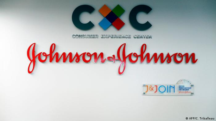 Logo of US pharmaceutical company Johnson & Johnson