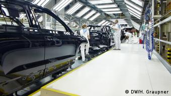 Лакировочный цех завода Škoda Auto в Мало-Болеславе