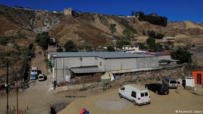 Centro de refugiados en Tijuana, México.