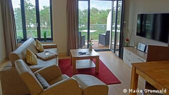 Room with a view: The author's holiday apartment in the Prora Solitaire Hotel (Maike Grundwald)