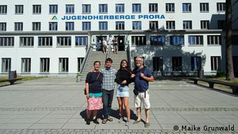 Prora also attracts guests from abroad, like this Swedish family