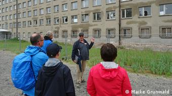 A guided tour of the grounds provided by the Prora Documentation Centr
