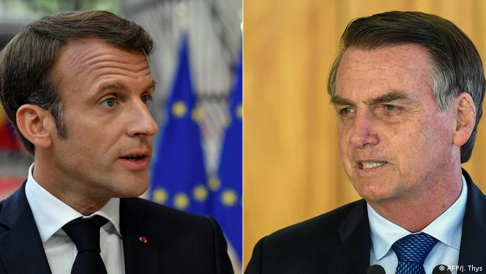 Nao E Atitude De Presidente Diz Macron Sobre Bolsonaro Noticias E Analises Sobre Os Fatos Mais Relevantes Do Brasil Dw 09 09 2019
