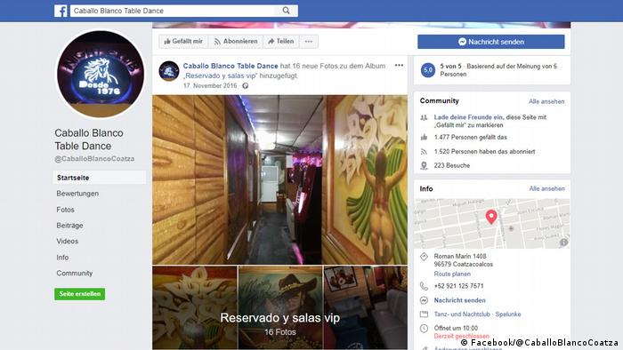 Screenshot Facebook | Bar Caballo Blanco in Coatzacoalcos, Mexiko
