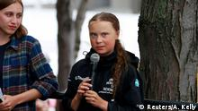 USA Ankunft Greta Thunberg in New York