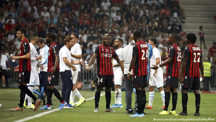 Nice v Marseille is stopped due to homophobia