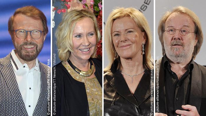 Los miembros de ABBA hoy.