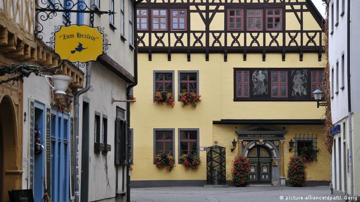 Городской дом бракосочетаний в Эрфурте расположен в этом памятнике фахверковой архитектуры 1546 года постройки