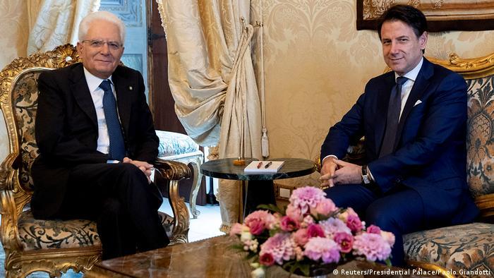 Italien Regierungsbildung   Sergio Mattarella & Giuseppe Conte