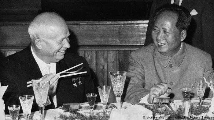 Chruschtschow u. Mao Peking 1959 Khrushchev & Mao in Beijing 1959