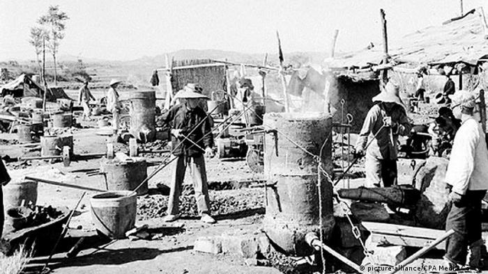 China Arbeiter Ofen Industrialisierung