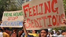Indien | Demonstration gegen das Sedition-Gesetz aus der Kolonialzeit
