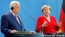 صورة من الأرشيف للقاء بين ميركل وعباس في برلين (أغسطس/ آب 2019)