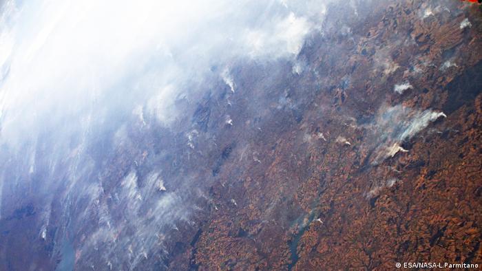 Amazonas-Brände von der ISS aus gesehen