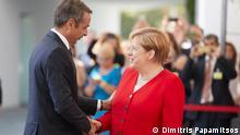 Berlin | Bundeskanzlerin Angela Merkel mit dem griechischen Ministerpräsidenten Kyriakos Mitsotakis