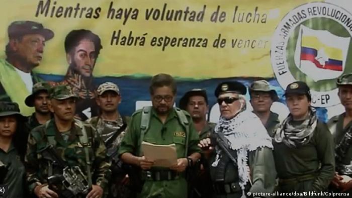 Luciano Marin AKA 'Ivan Marquez' announced FARC's rearmament in a video.