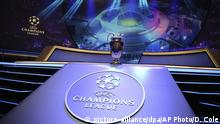 The Champions League trophy is displayed before the UEFA group stage draw at the Grimaldi Forum, in Monaco, Thursday, Aug. 29, 2019. (AP Photo/Daniel Cole) |