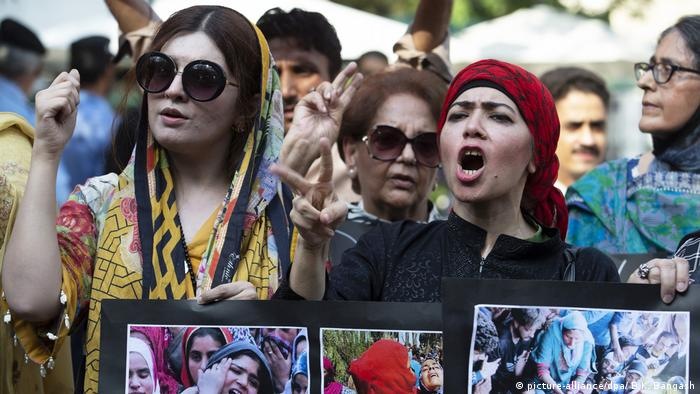 Protests in Islamabad (picture-alliance/dpa/ B.K. Bangash)