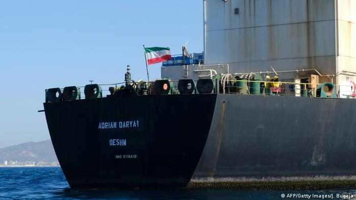 Adrian Darya oil tanker (AFP/Getty Images/J. Bugeja)