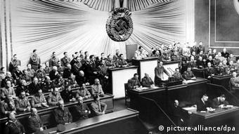 Discurs al lui Hitler în Reichstag în 1939, anul atacării Poloniei