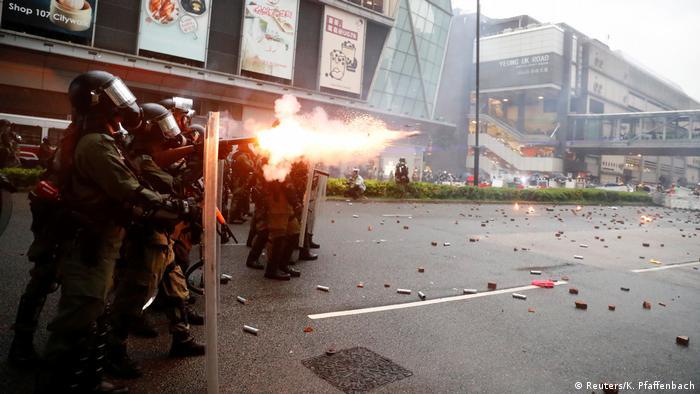 Hongkong Protest Polizei