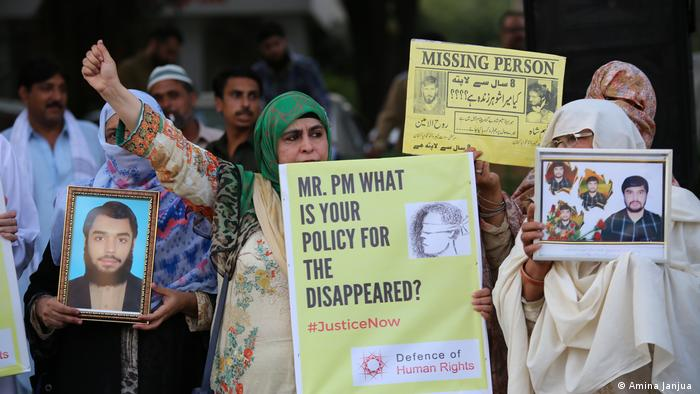 People protest against enforced disappearances in Pakistan