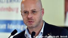 Landesparteitag der AfD Brandenburg Andreas Kalbitz
